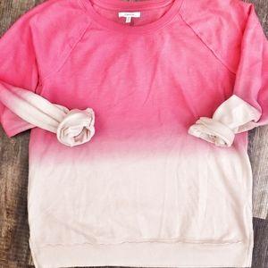 Pink sweatshirt sz large nwot maurcies